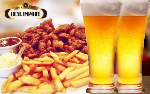 Happy hour! Isca de Frango + Batata Frita + 2 Chopes 300 ml